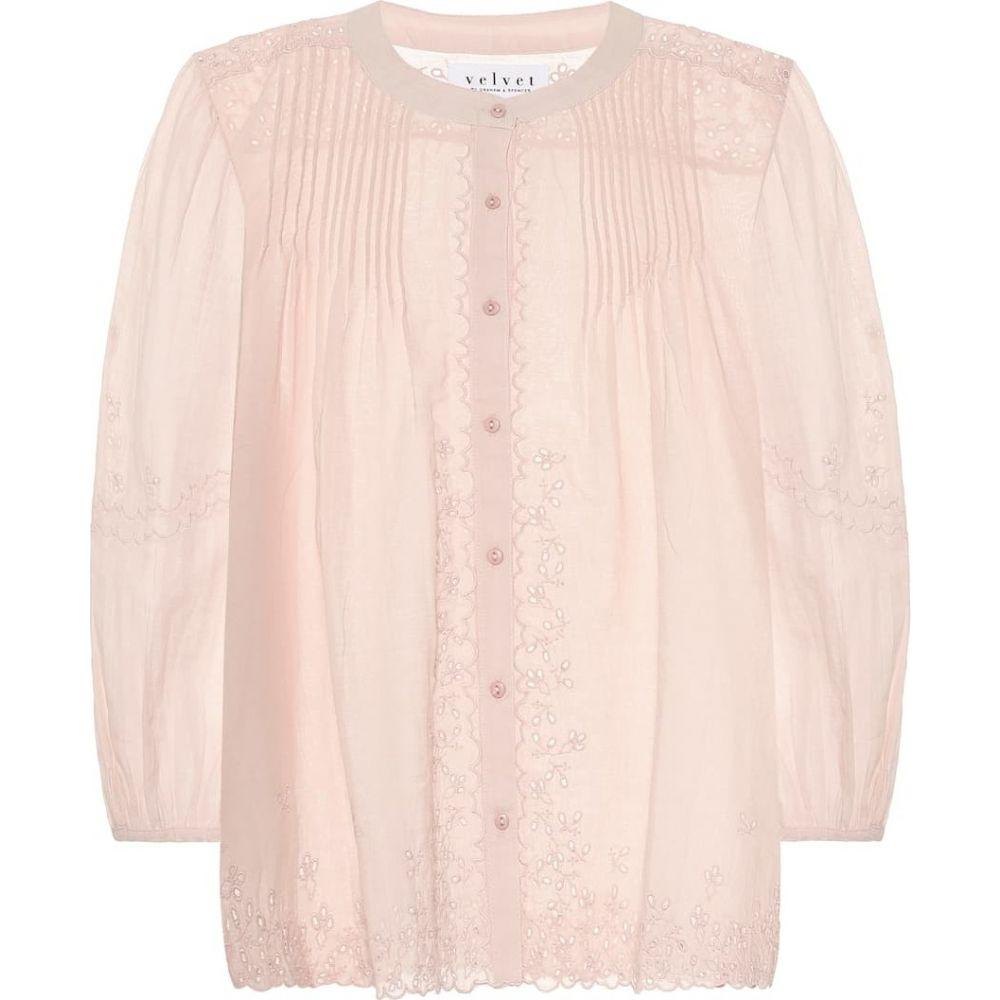 【新作からSALEアイテム等お得な商品満載】 ベルベット グラハム&スペンサー Velvet グラハム&スペンサー レディース ブラウス・シャツ ブラウス・シャツ トップス【catherine cotton-blend cotton-blend blouse】Dusty Rose, GOOD MART:566970d7 --- delipanzapatoca.com