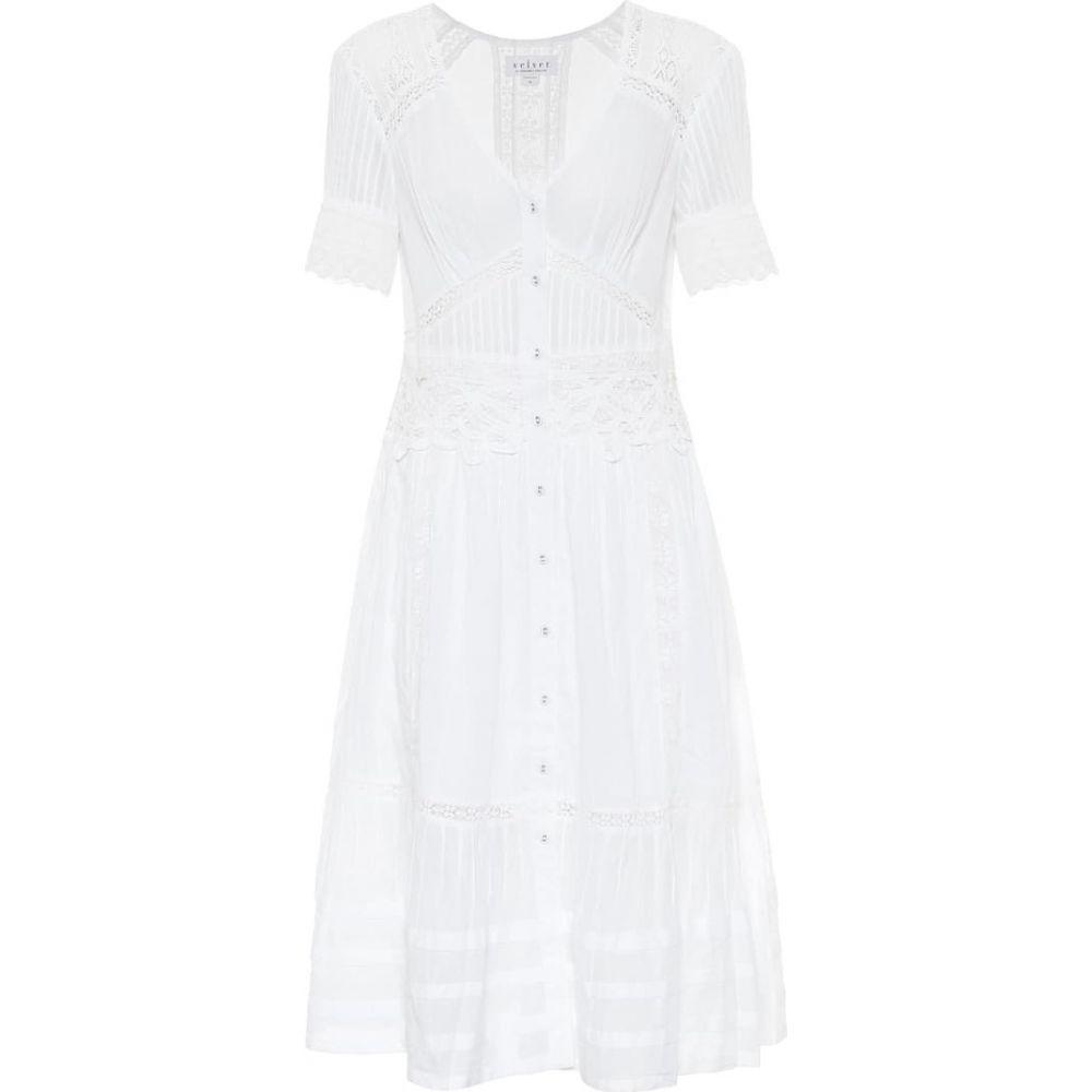 グラハム&スペンサー ベルベット ワンピース・ドレス【suri dress】White cotton Velvet レディース midi ミドル丈 ワンピース
