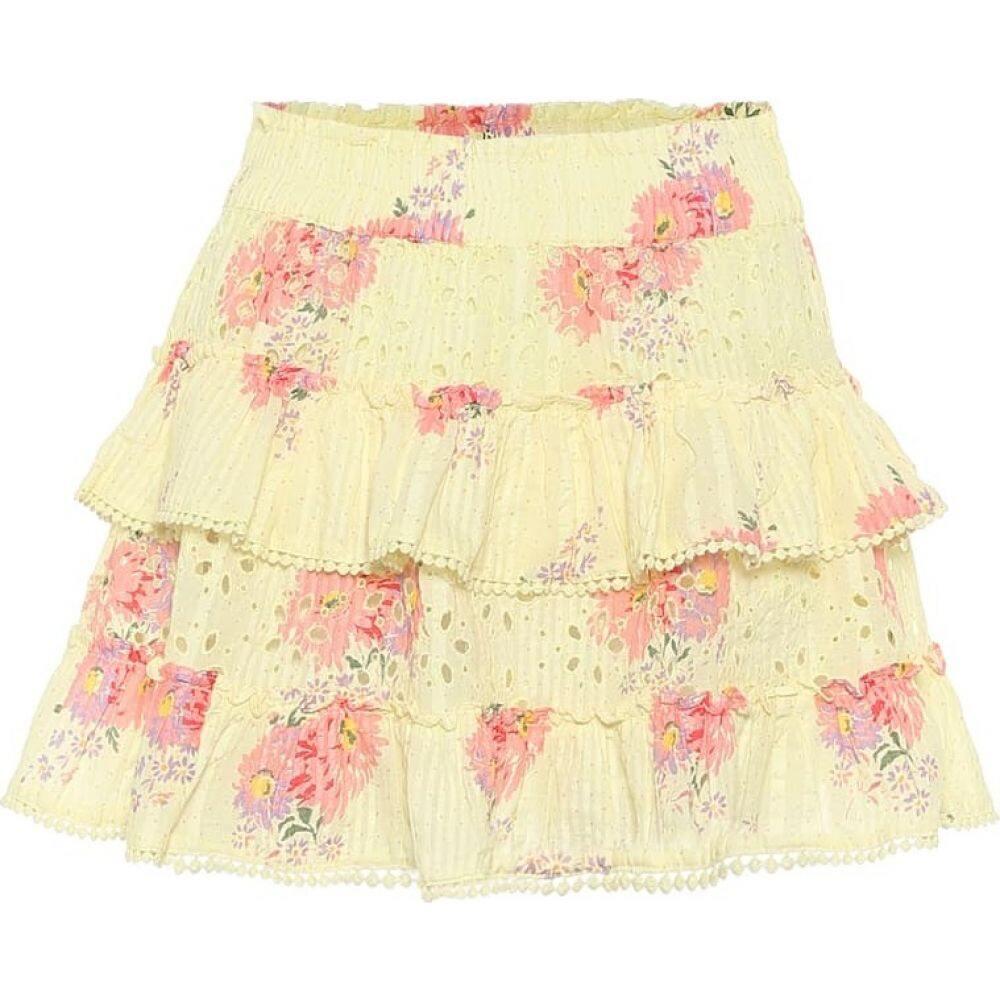 floral ラブシャックファンシー ミニスカート Yellow LoveShackFancy miniskirt】Mellow レディース cotton スカート【bliss
