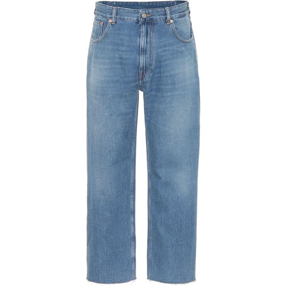 jeans】Medium Maison ジーンズ・デニム ボトムス・パンツ【high-rise Margiela レディース マルジェラ straight メゾン Cast MM6
