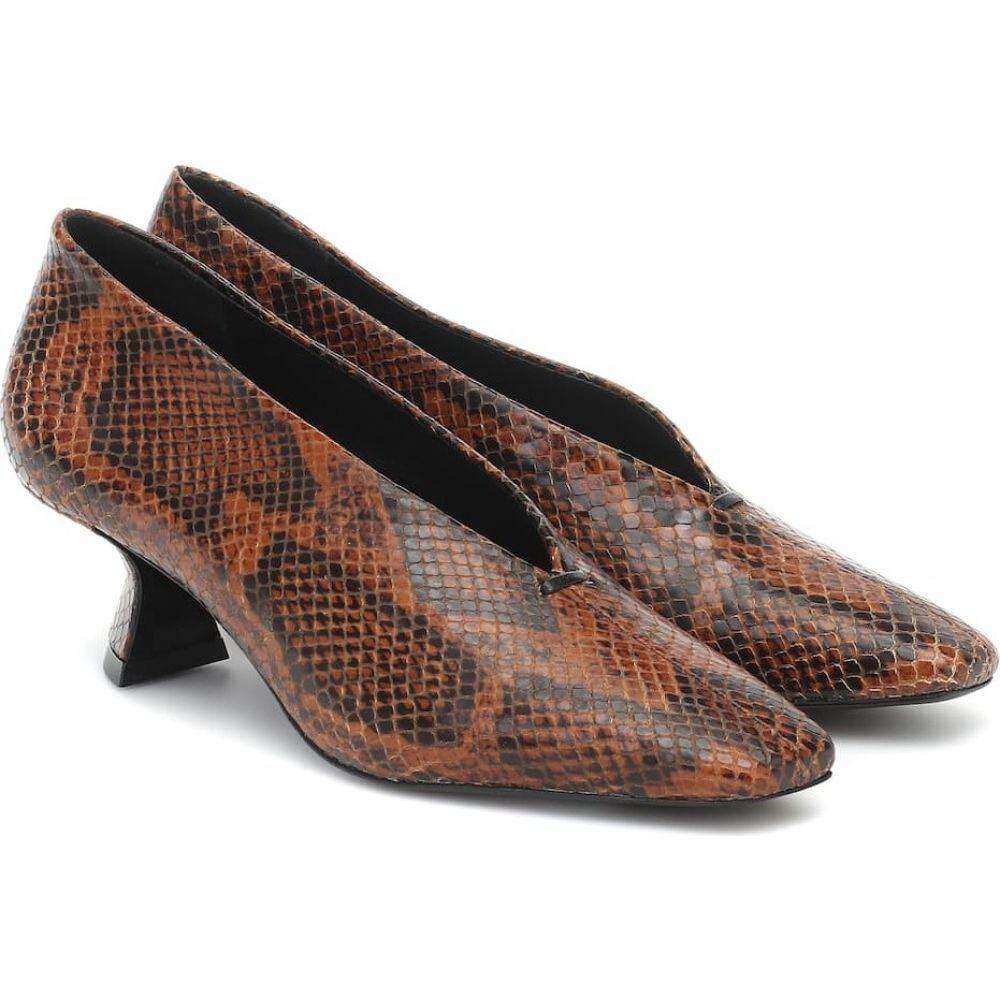 メルセデス カステロ Mercedes Castillo レディース パンプス シューズ・靴【claudia snake-effect leather pumps】Tan
