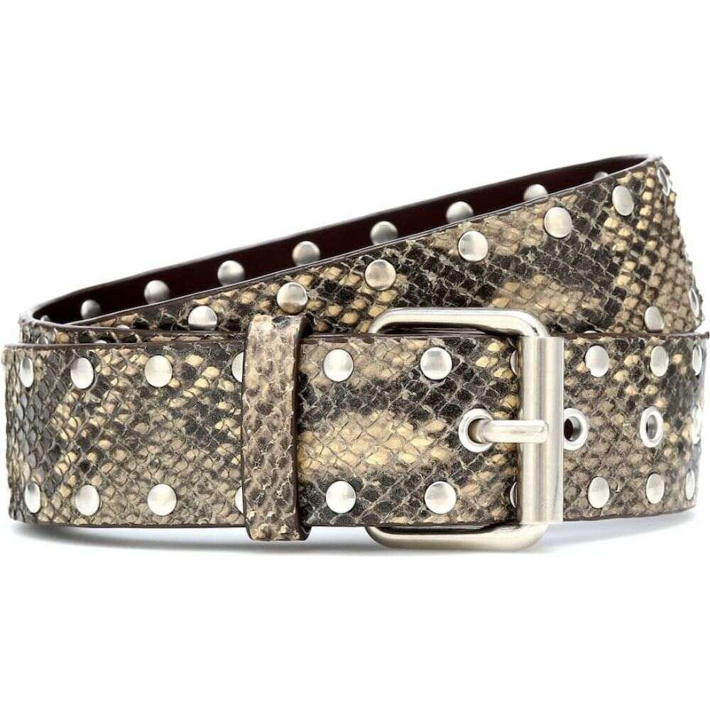 ドリス ヴァン ノッテン Dries Van Noten レディース ベルト 【snake-effect leather belt】Beige