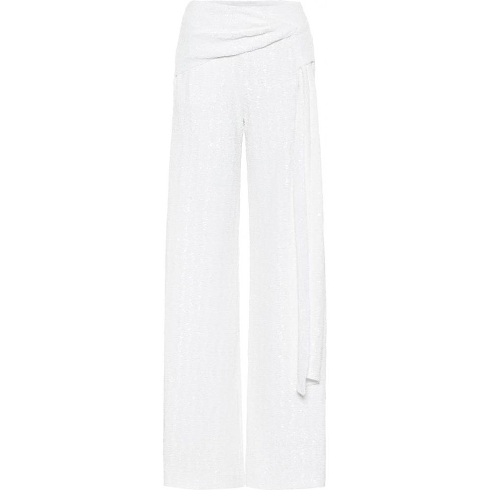 <title>海外 ローラン ムレ レディース ボトムス パンツ その他ボトムス サイズ交換無料 Roland Mouret Jervis Sequined Wide-Leg Pants White</title>
