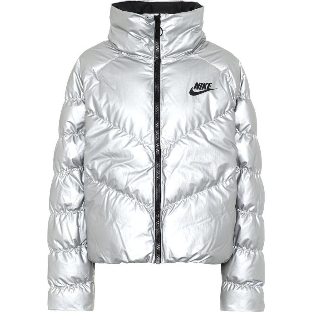 ナイキ Nike レディース ダウン・中綿ジャケット アウター【Down Jacket】Metallic Silver/Black