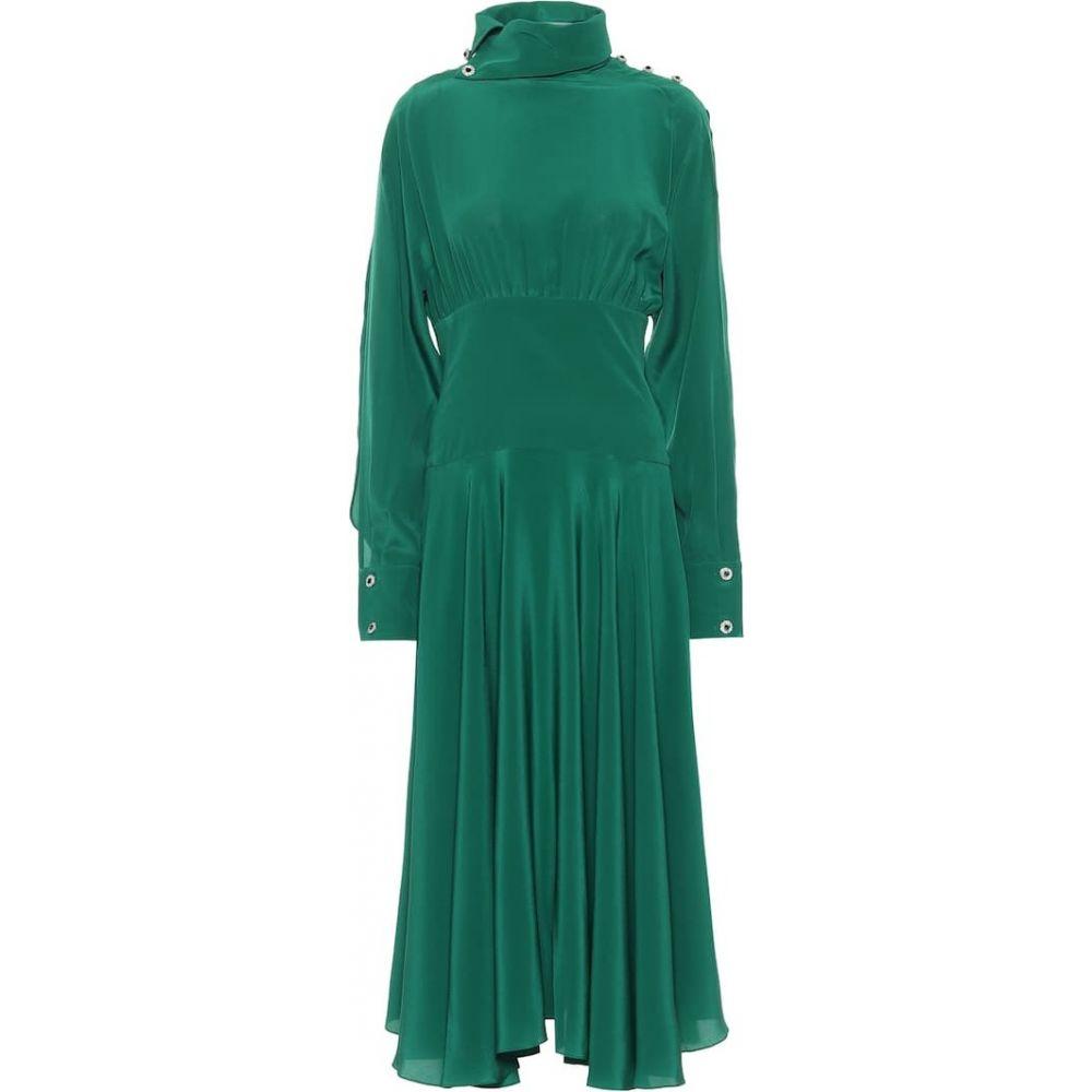 最も優遇 クリストファー ケイン Christopher Kane レディース ワンピース ミドル丈 ワンピース・ドレス【Embellished Silk-Blend Crepe Midi Dress】Emerald, MTK SHOP 47e4c5c5
