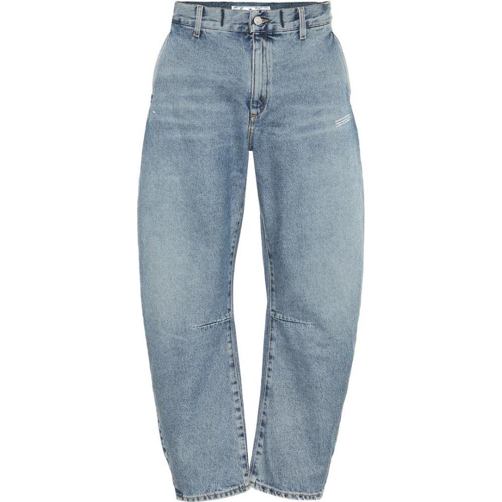 オフホワイト Off-White レディース ジーンズ・デニム ボトムス・パンツ【High-Rise Tapered Jeans】Light Blue No Color