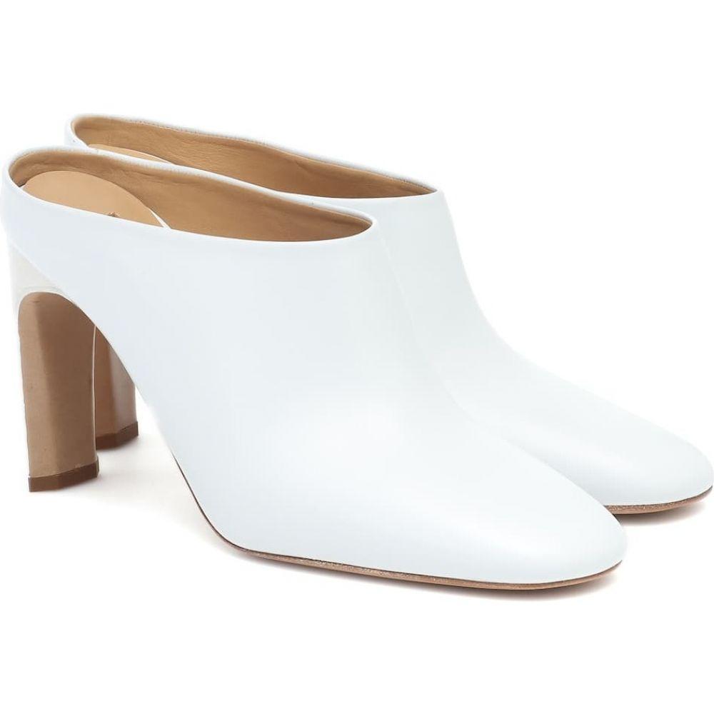 ジル サンダー レディース シューズ 靴 パンプス Bianco Mules Jil 交換無料 Leather サイズ交換無料 品質保証 Sander