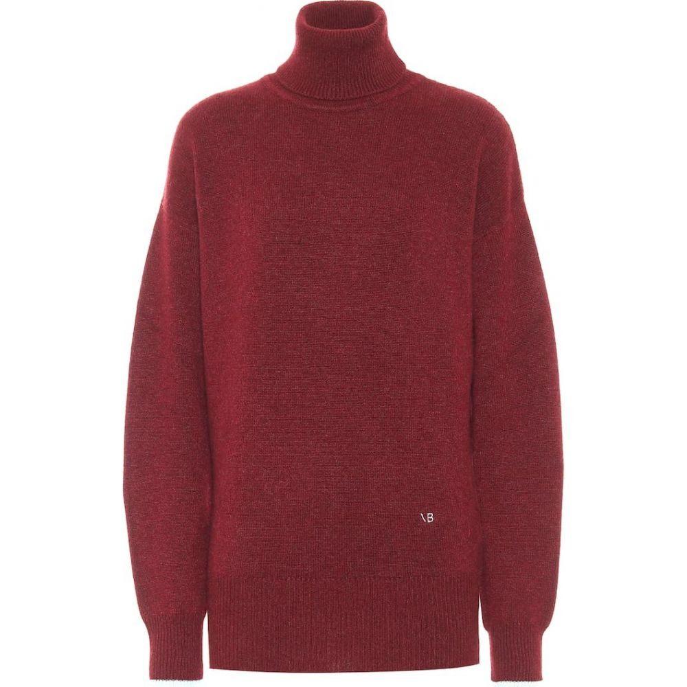ヴィクトリア ベッカム Victoria Beckham レディース ニット・セーター トップス【Cashmere Turtleneck Sweater】Bordeaux/Mint