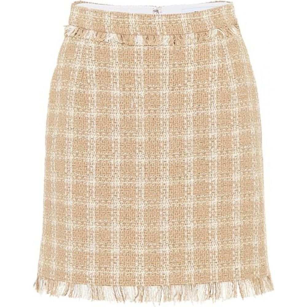 Miniskirt】 スカート【Cotton-Blend MSGM レディース Tweed エムエスジーエム ミニスカート