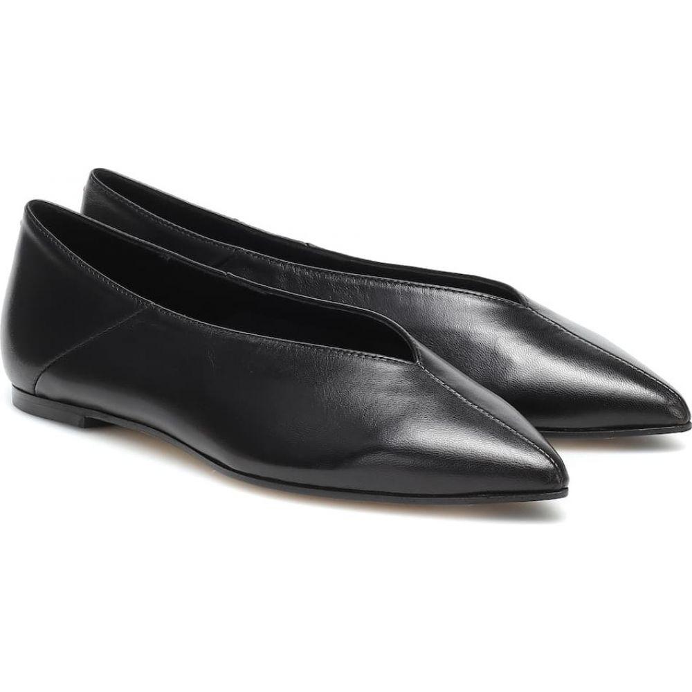 アイデ Aeyde レディース スリッポン・フラット シューズ・靴【Moa Leather Ballet Flats】Black