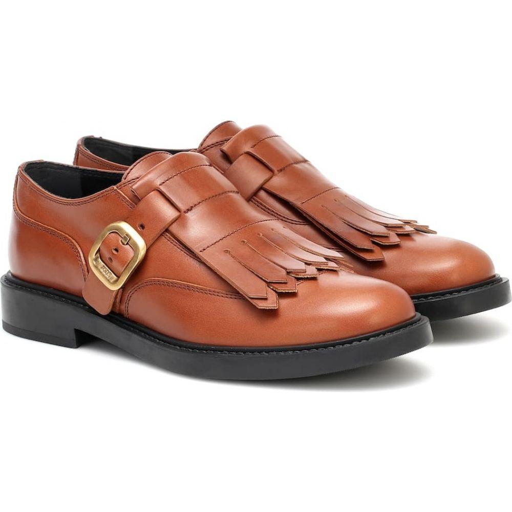 Brogues】Bracndy トッズ レディース ローファー・オックスフォード Tod's シューズ・靴【Fringed メダリオン Scuro Leather