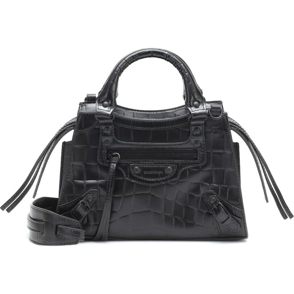 Mini バッグ【Neo Leather Balenciaga Tote】Black レディース Classic バレンシアガ トートバッグ