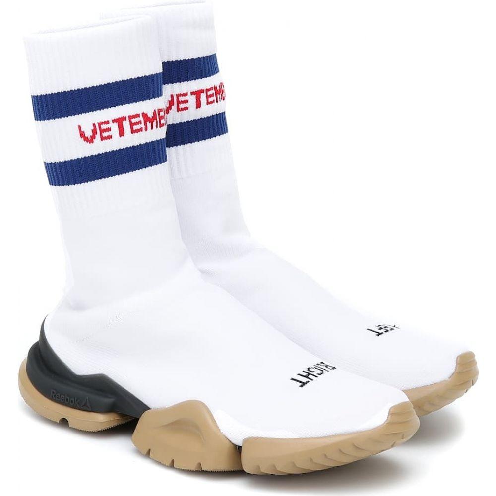 ヴェトモン Vetements レディース ランニング・ウォーキング リーボック スニーカー ソックス シューズ・靴【X Reebok Classic Sock Runner Sneakers】White