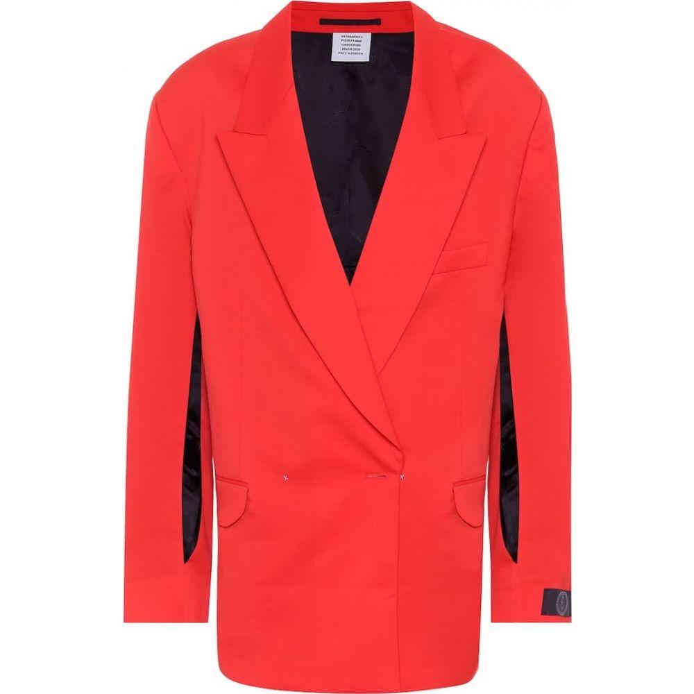 <title>ヴェトモン レディース アウター スーツ ジャケット サイズ交換無料 Vetements wool-twill blazer Red ランキングTOP10</title>