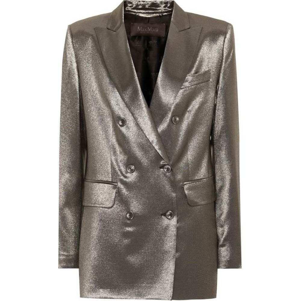 マックスマーラ レディース アウター スーツ ジャケット サイズ交換無料 Max metallic Mara silk 税込 直送商品 nero nadia stretch blazer