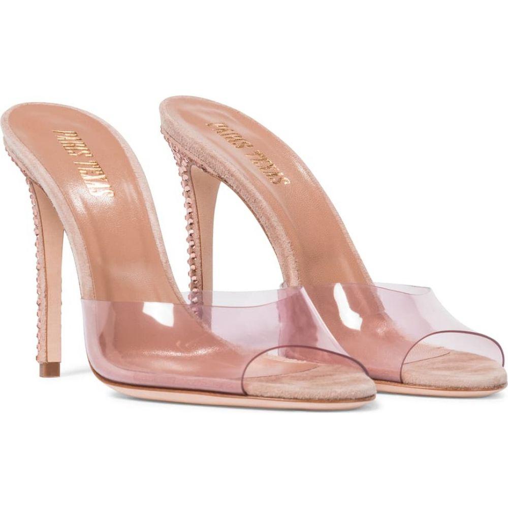 公式 パリ テキサス レディース Paris Texas Quartz レディース pvc サンダル・ミュール シューズ・靴【embellished suede and pvc sandals】Pink Quartz, オケトチョウ:65b46041 --- cpps.dyndns.info