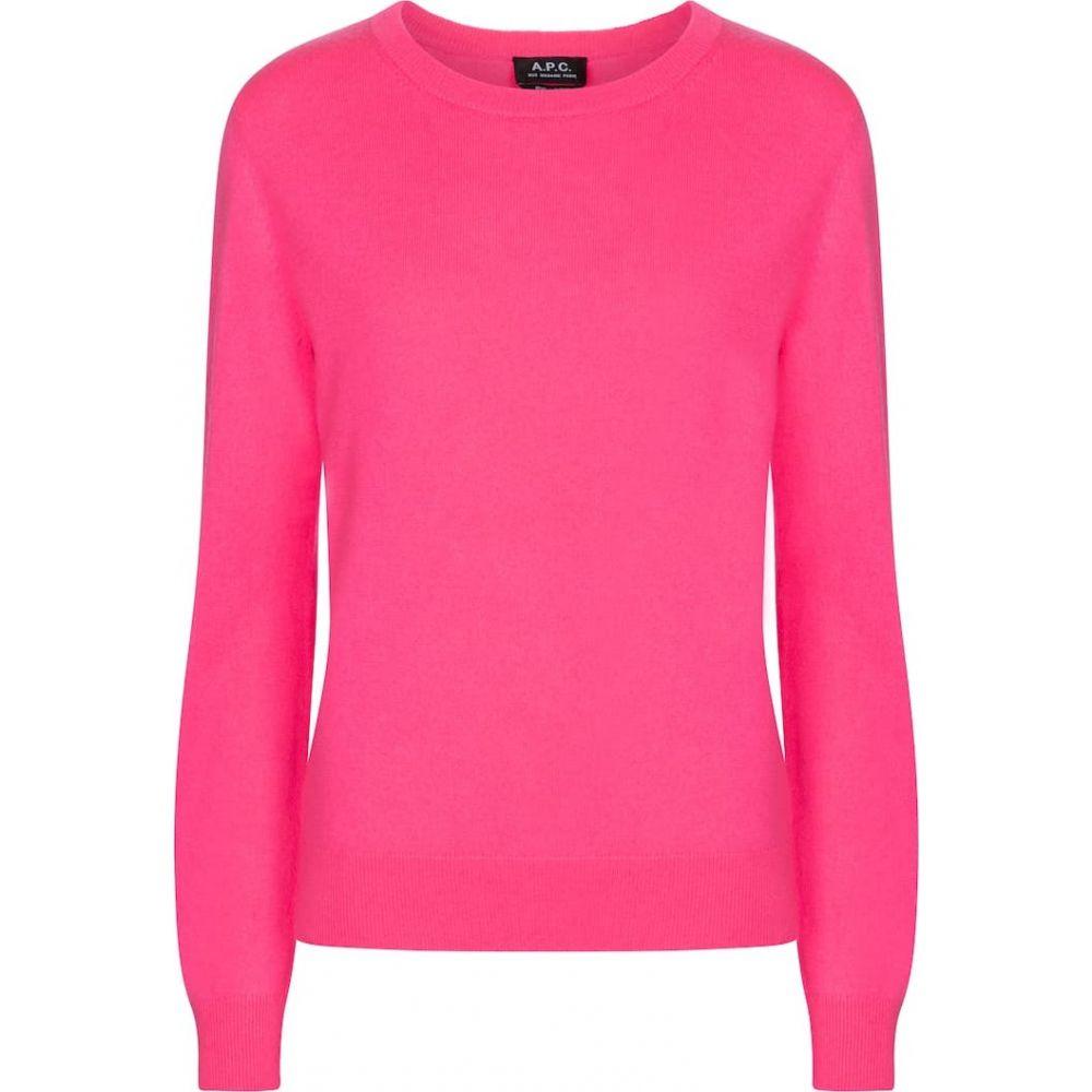 レディース A.P.C. Fluo トップス【nola sweater】Rose ニット・セーター cashmere アーペーセー