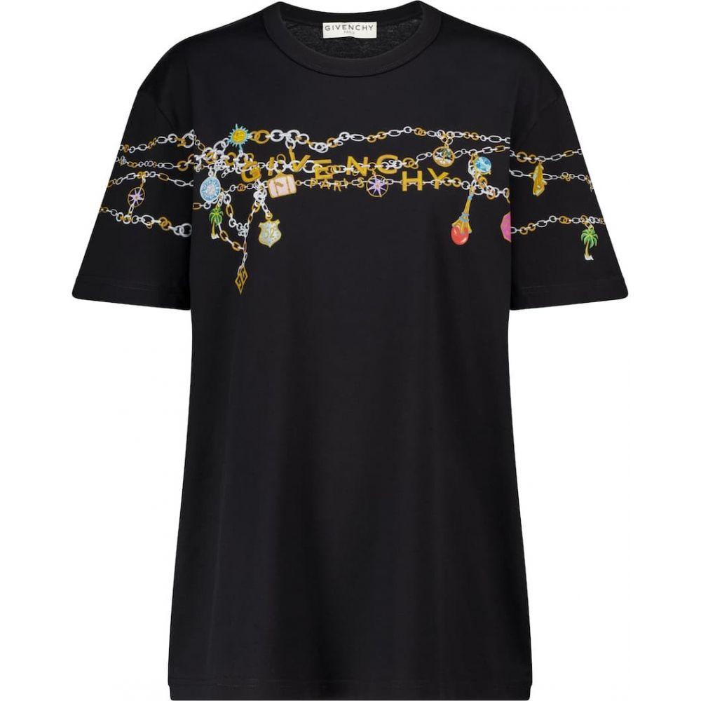 【メーカー直売】 ジバンシー Givenchy レディース Tシャツ トップス【logo cotton jersey t-shirt】Black, リサイクルショップメイクバリュー 4efe5408