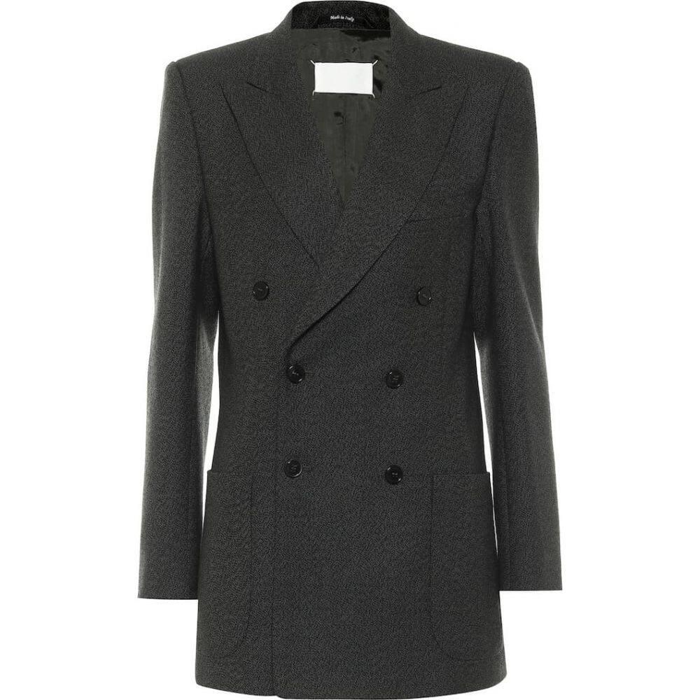 メゾン マルジェラ レディース 2020A 新作販売 W新作送料無料 アウター スーツ ジャケット サイズ交換無料 blazer Green Maison Margiela double-breasted wool Dark