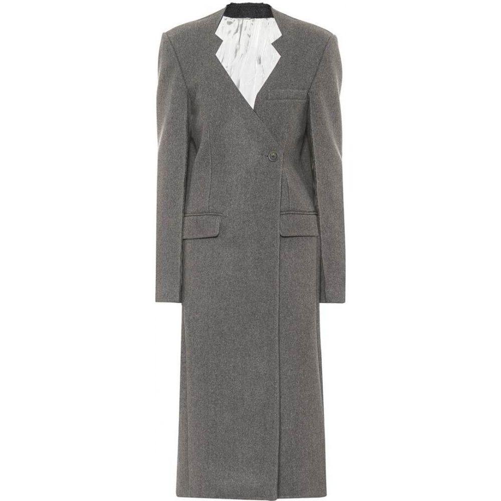 ピーター ドゥ レディース 完全送料無料 アウター コート サイズ交換無料 Peter Grey wool Do 激安セール coat Virgin