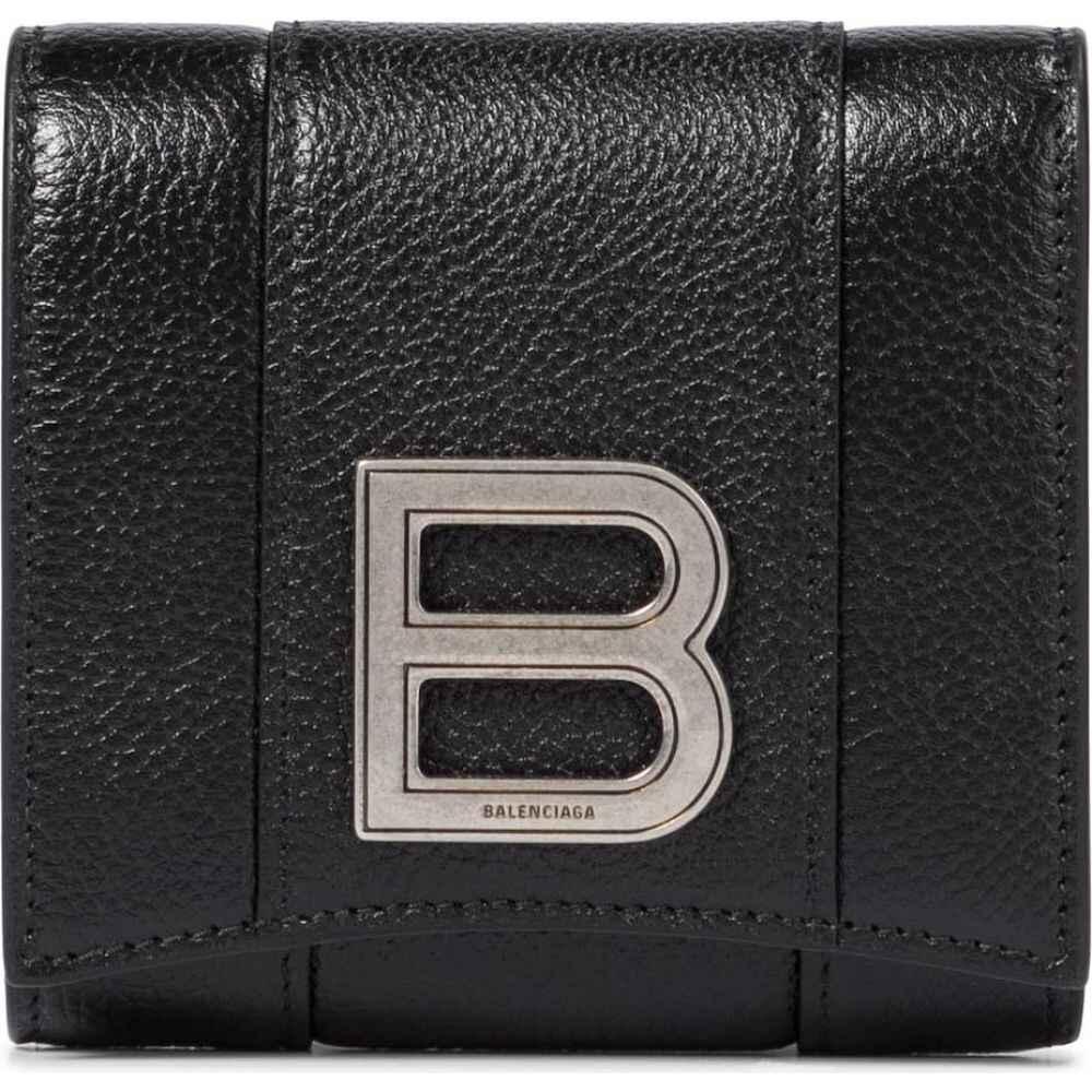 <title>バレンシアガ レディース 財布 時計 雑貨 サイズ交換無料 Balenciaga 格安店 Hourglass leather wallet Black</title>