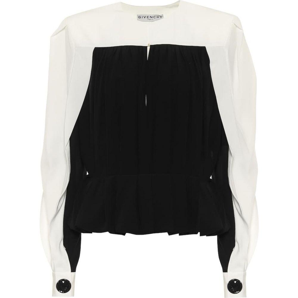 2021年春の ジバンシー Givenchy レディース トップス【Silk-crepe トップス Natural top【Silk-crepe】Black Natural, 【期間限定特価】:e69c6416 --- online-cv.site