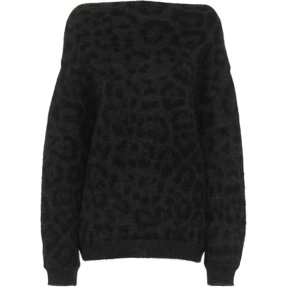 ヴァレンチノガラヴァーニ 評価 レディース トップス 宅配便送料無料 ニット セーター サイズ交換無料 jacquard Valentino sweater mohair-blend Grey Garavani