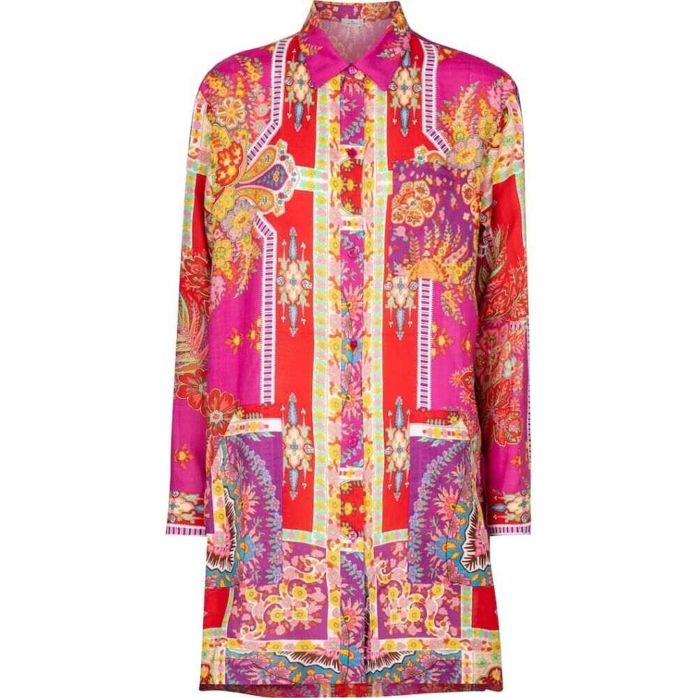 【特価】 エトロ レディース Etro レディース Etro ブラウス・シャツ トップス エトロ【Printed ramie shirt】Rosa, アート静美洞:7f6c218c --- online-cv.site