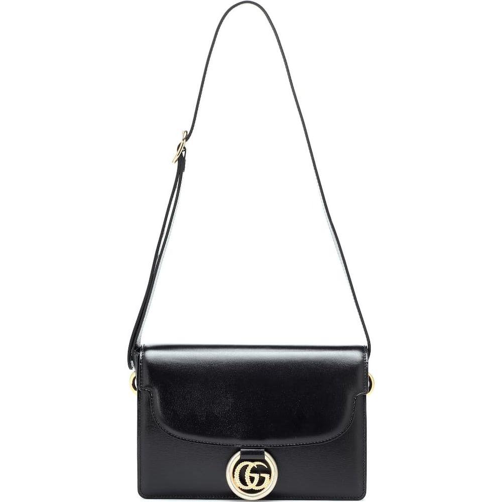 絶対一番安い グッチ Gucci Ring レディース ショルダーバッグ バッグ【GG Ring Small leather bag】Nero グッチ shoulder bag】Nero, 食べごろBIZ:3fa62776 --- agrohub.redlab.site