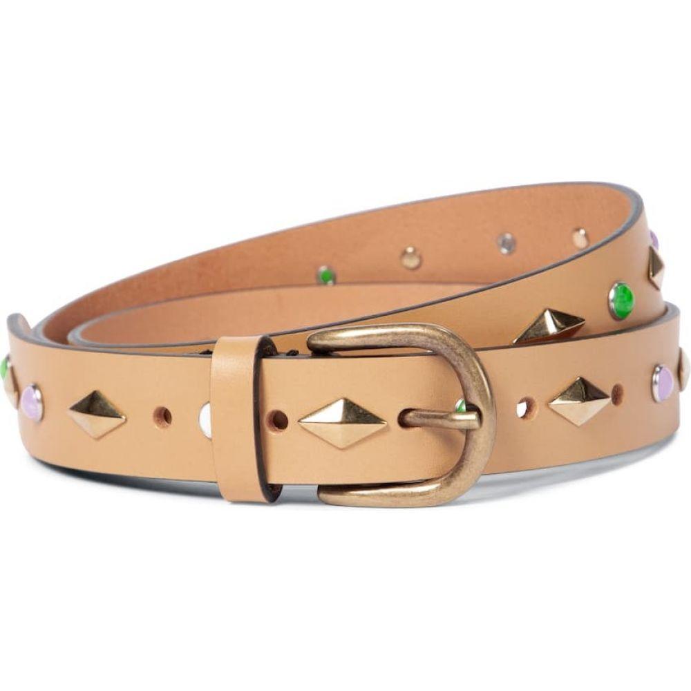 イザベル マラン レディース 新作からSALEアイテム等お得な商品 満載 ファッション小物 ベルト サイズ交換無料 マーケット Isabel Zap leather Beige embellished Light belt Marant