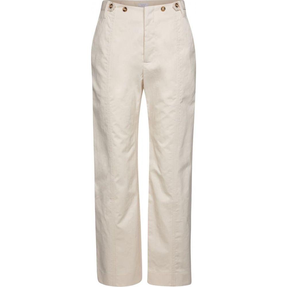 デヴォー ニューヨーク レディース ボトムス 優先配送 パンツ その他ボトムス サイズ交換無料 Deveaux York straight pants cotton ショッピング twill White Judi New
