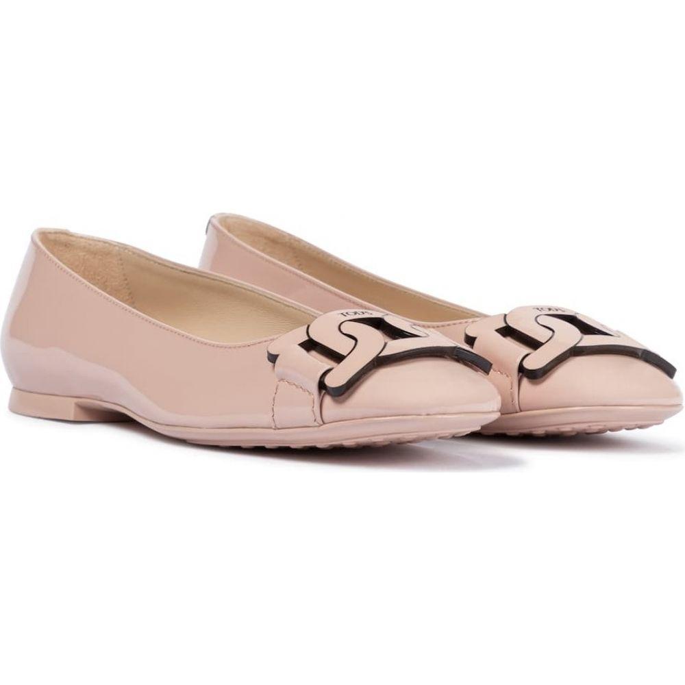 トッズ Tod's レディース スリッポン·フラット シューズ·靴【gomma patent leather ballet flats】Rosa Kiss
