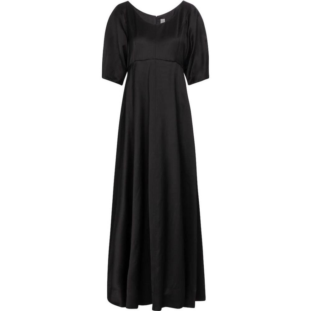 トーテム Toteme レディース ワンピース エンパイアドレス マキシ丈 ワンピース·ドレス【empire-waist maxi dress】Black