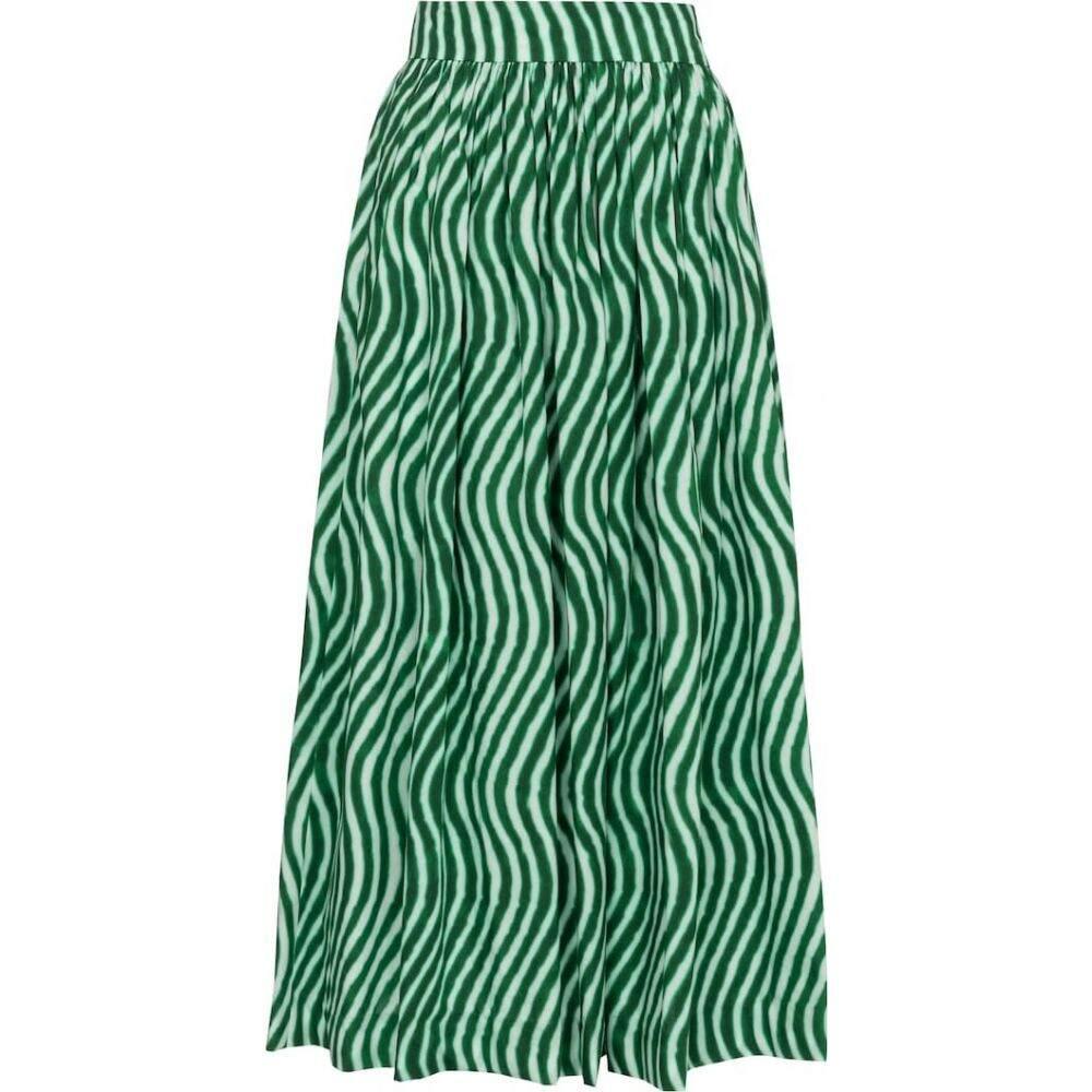 <title>ドリス ヴァン ノッテン レディース スカート ひざ丈スカート 祝日 サイズ交換無料 Dries Van Noten printed cotton midi skirt Green</title>