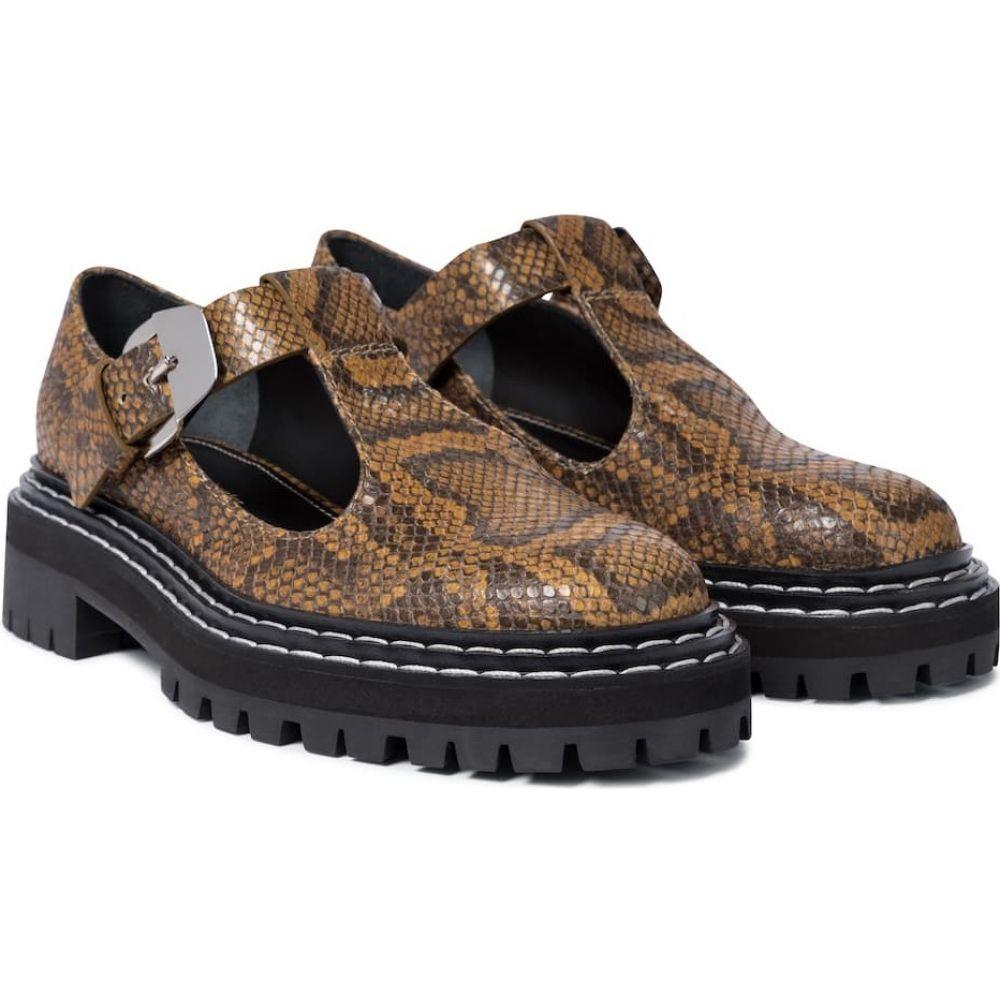 【お買得】 プロエンザ スクーラー スクーラー Proenza Schouler レディース スリッポン・フラット シューズ Schouler janes】Natural・靴【snake-effect leather mary janes】Natural, アレンシー:2156be45 --- superbirkin.com