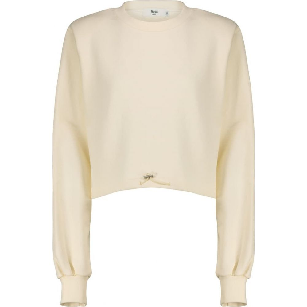 terry レディース トップス【drawstring フランキー sweatshirt】Cream ショップ cotton Frankie スウェット・トレーナー Shop