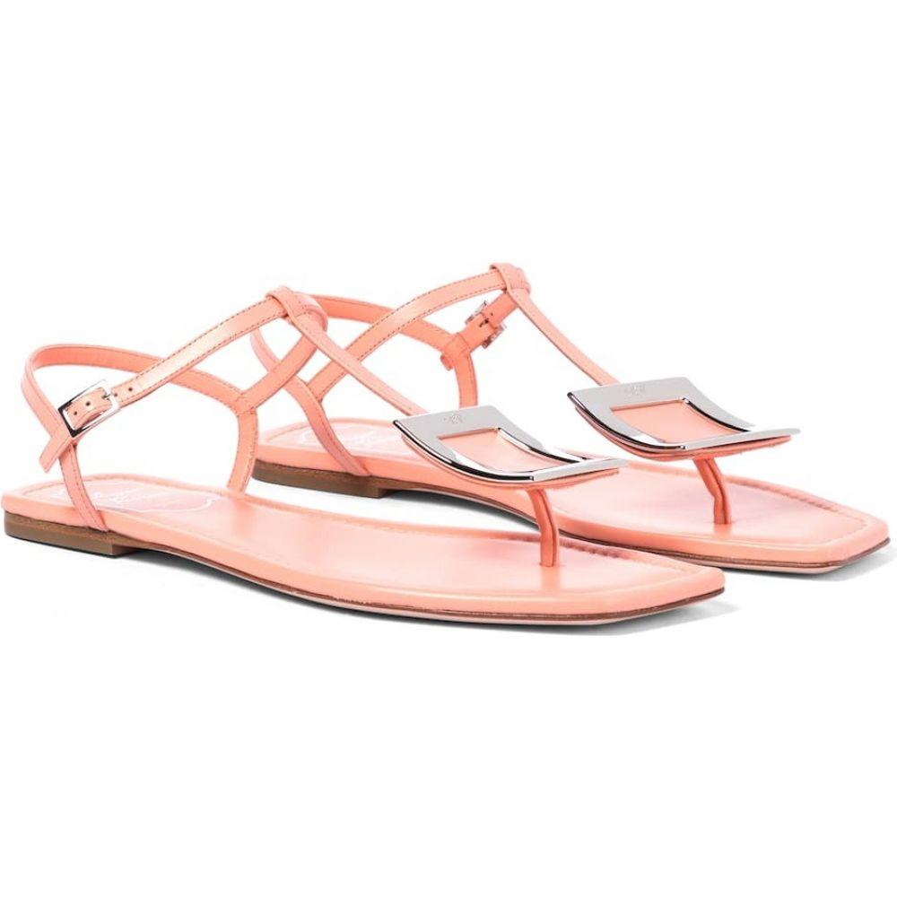 ロジェ ヴィヴィエ Roger Vivier レディース サンダル・ミュール シューズ・靴【bikiviv' leather sandals】Pink Orange