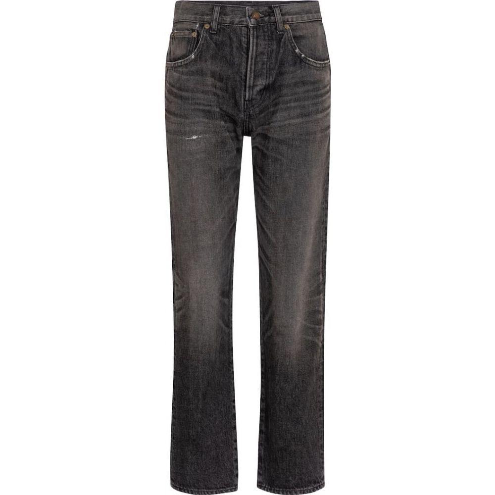 イヴ サンローラン Saint Laurent レディース ジーンズ・デニム スキニー・スリム ボトムス・パンツ【high-rise slim jeans】Medium Dirty Black