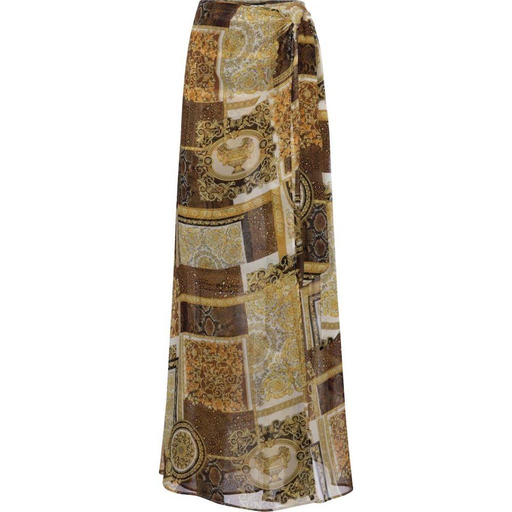 贅沢 ヴェルサーチ Versace レディース ビーチウェア 水着・ビーチウェア【barocco レディース mosaic ビーチウェア printed mosaic silk sarong】Bianco/Oro/Kaki, フィオーレスポーツ ゴルフ専門店:700a6d35 --- sturmhofman.nl