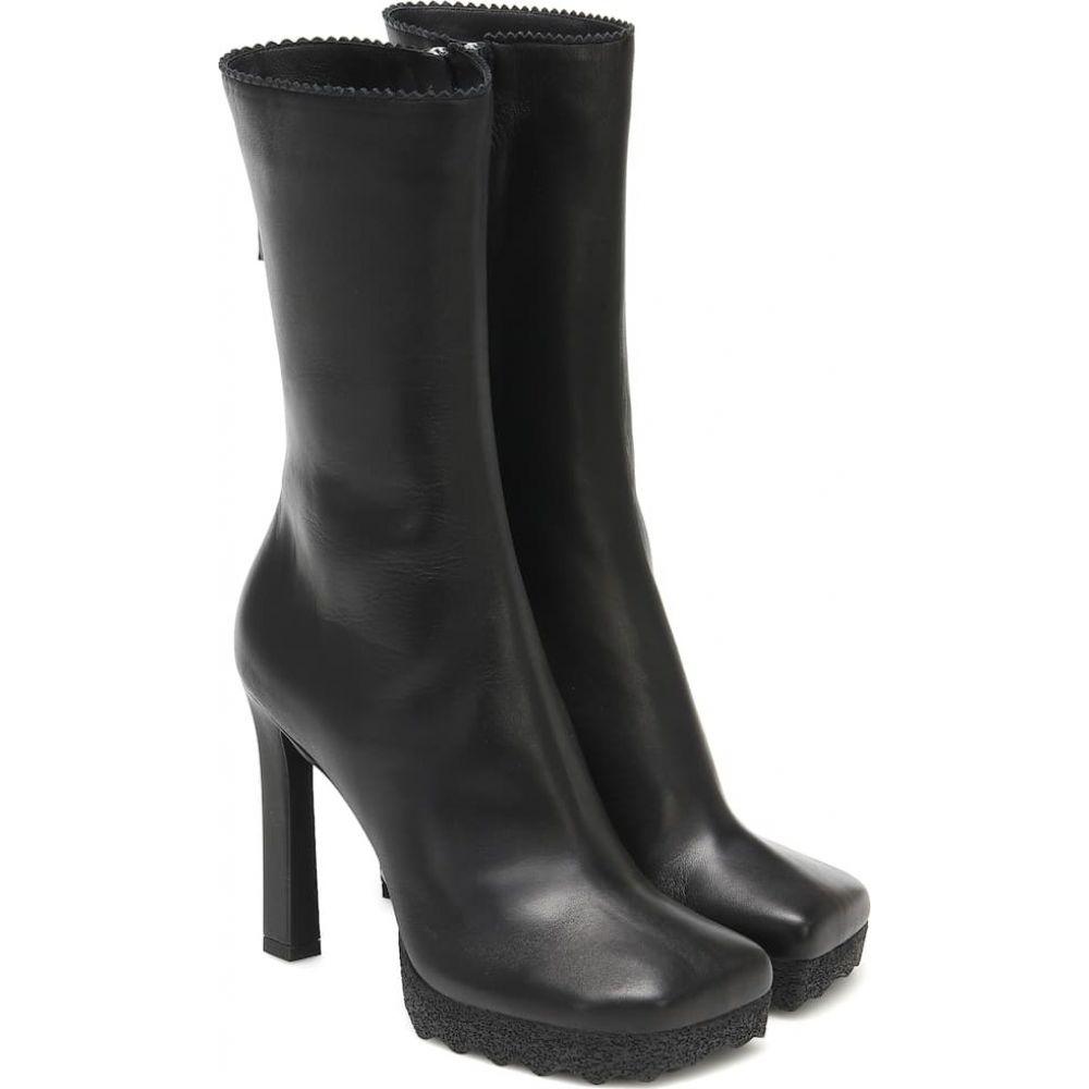 【海外 正規品】 オフホワイト boots】Black Off-White レディース ブーツ シューズ レディース・靴【leather Off-White boots】Black, 東浅井郡:6d5f9ae5 --- hafnerhickswedding.net
