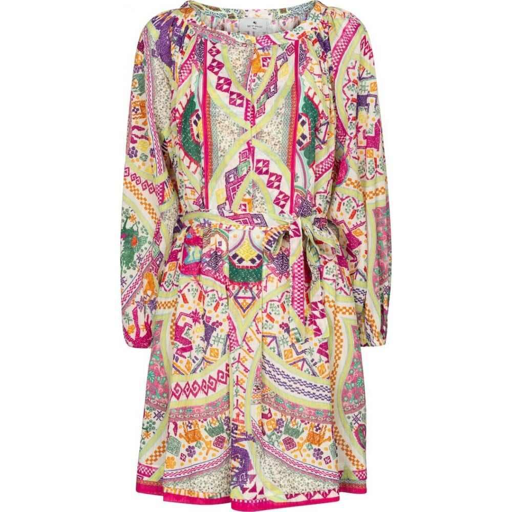 エトロ Etro レディース ワンピース ミニ丈 ワンピース·ドレス【printed cotton minidress】Multicolor