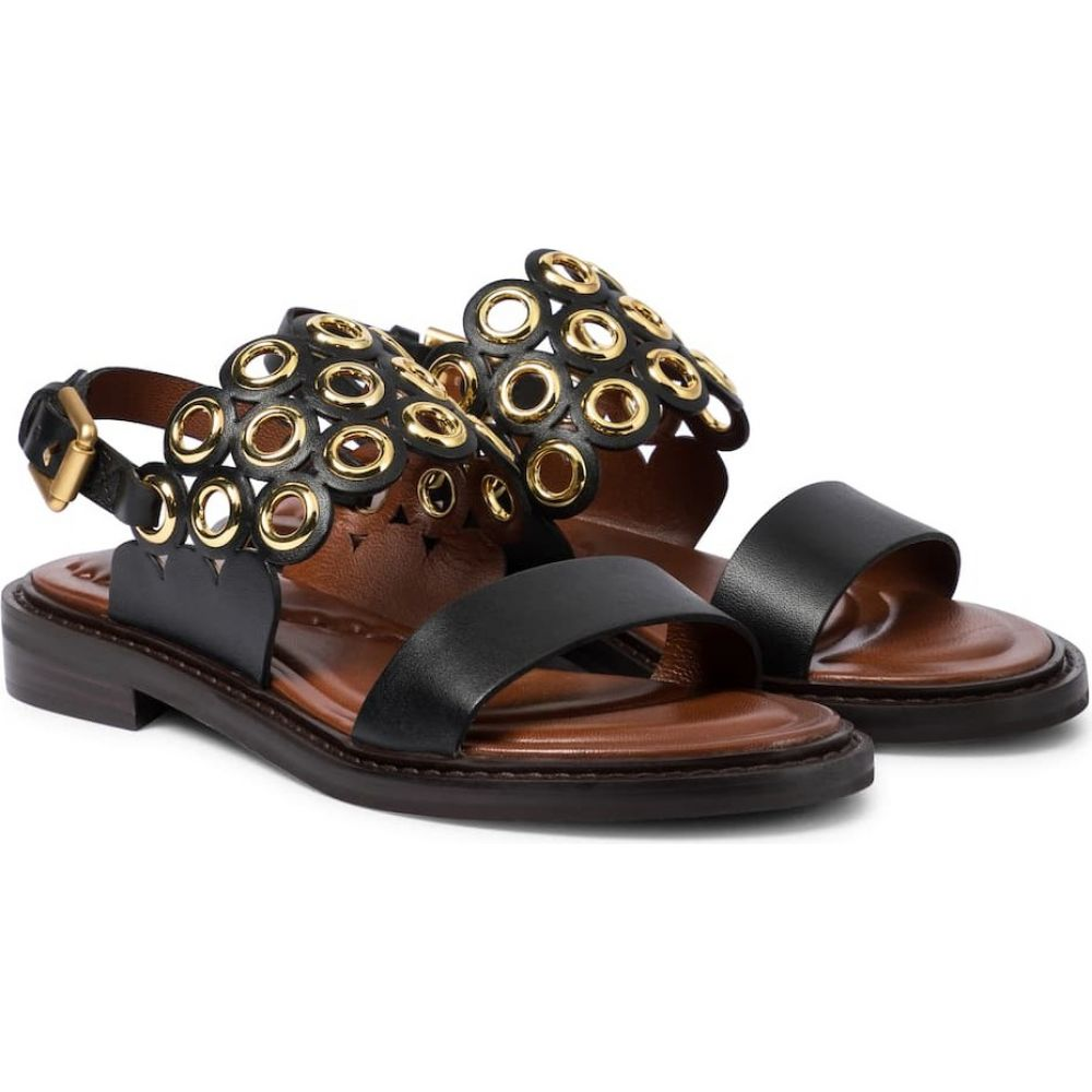 <title>クロエ レディース シューズ 超人気 専門店 靴 サンダル ミュール サイズ交換無料 See By Chloe embellished leather sandals Black</title>