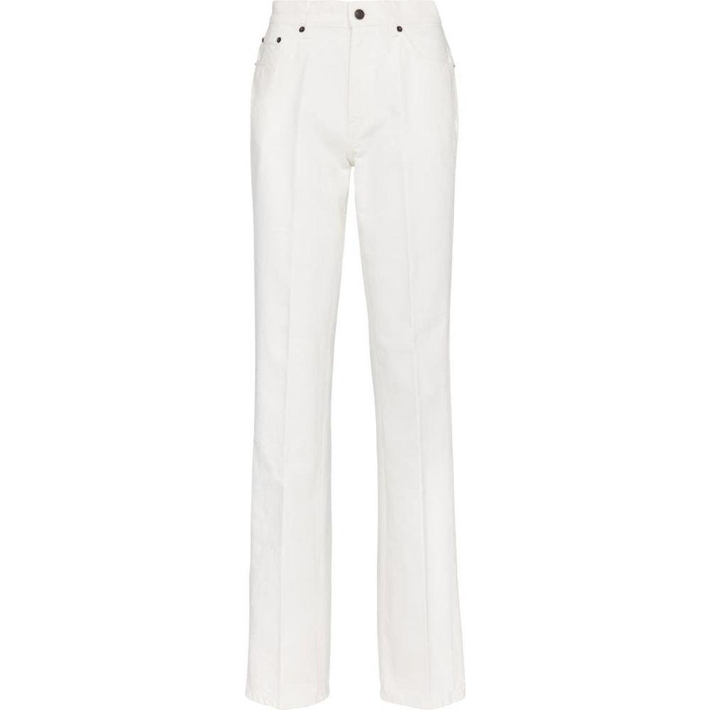 <title>ザ ロウ レディース ボトムス パンツ 格安SALEスタート ジーンズ デニム サイズ交換無料 The Row carlton mid-rise straight jeans White</title>