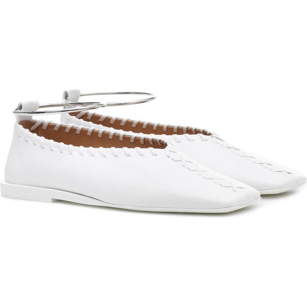2021新入荷 ジル サンダー Jil レディース Sander レディース スリッポン ジル flats】white・フラット シューズ・靴【leather ballet flats】white, 『2年保証』:c46cd380 --- inglin-transporte.ch