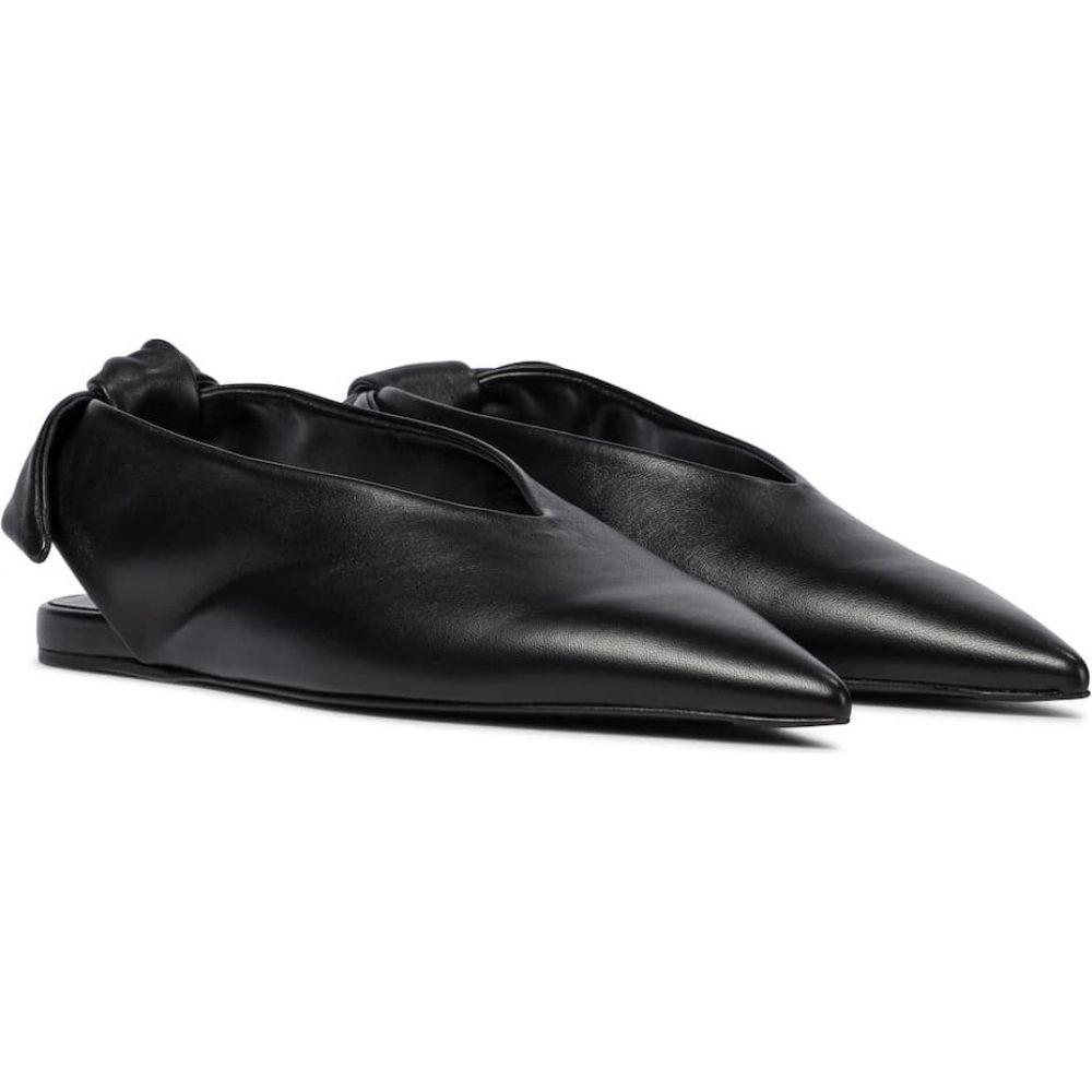 大人気新作 ジル サンダー Sander Jil Sander レディース スリッポン・フラット ジル シューズ サンダー・靴【leather slingback ballet flats】Black, 【2021最新作】:9d2ee494 --- inglin-transporte.ch