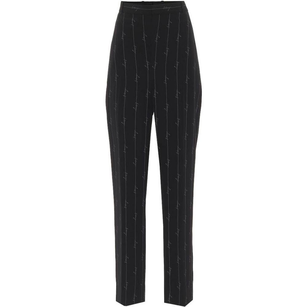 【有名人芸能人】 バレンシアガ straight Balenciaga レディース レディース ボトムス・パンツ【Pinstriped バレンシアガ high-rise straight pants】Black, ケアライフ:ef48fb0f --- gerber-bodin.fr