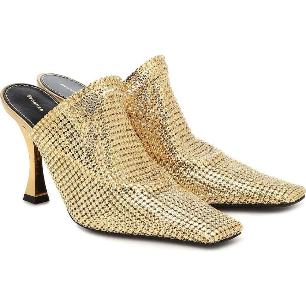(訳ありセール 格安) プロエンザ スクーラー スクーラー Proenza Schouler Schouler レディース サンダル・ミュール Proenza シューズ・靴【Chainmail mules】Golden, Jsmile Shop:ad60d9b6 --- greencard.progsite.com