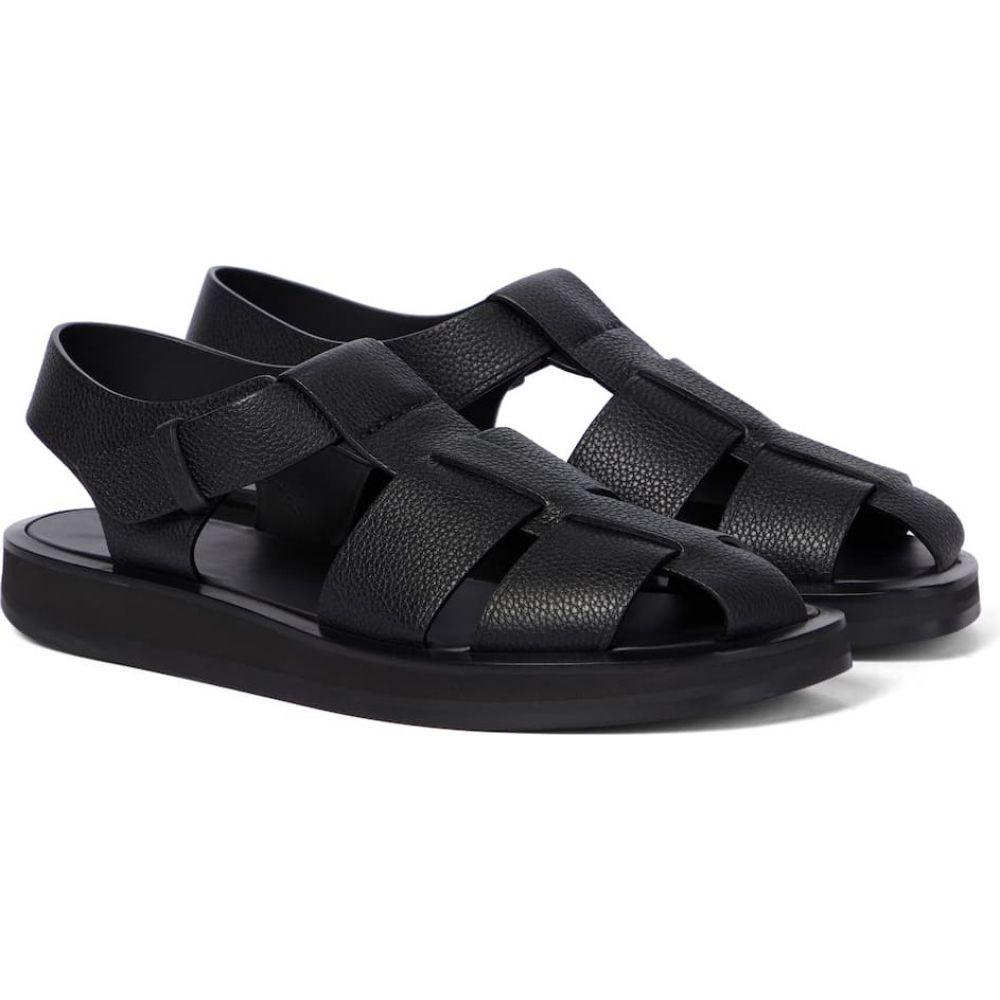 【激安大特価!】  ザ ロウ ザ The leather レディース Row レディース サンダル・ミュール シューズ・靴【Fisherman leather sandals】Black, 保内町:856b0a2e --- unlimitedrobuxgenerator.com