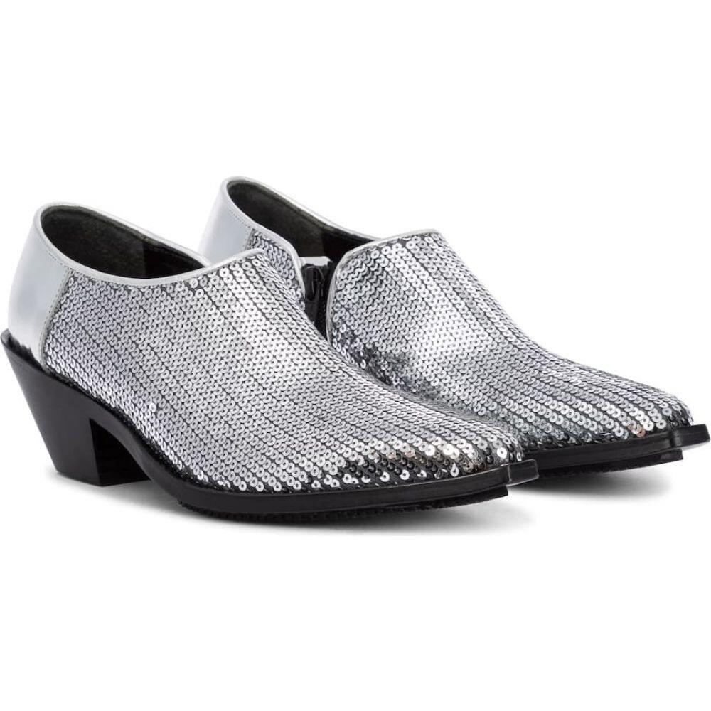 人気ショップ ジュンヤ ワタナベ Junya boots】Silver Watanabe レディース ブーツ ショートブーツ ワタナベ シューズ ブーツ・靴【Sequined ankle boots】Silver, 天草町:2bf640eb --- easassoinfo.bsagroup.fr