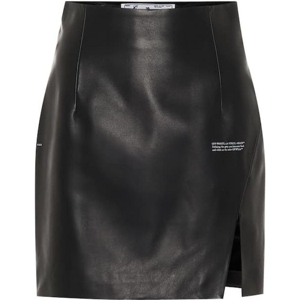 一番の オフホワイト Off-White miniskirt】Black レディース ミニスカート スカート【High-rise No ミニスカート leather miniskirt】Black No Color, お好み焼ほていさん:cb6ed870 --- hafnerhickswedding.net